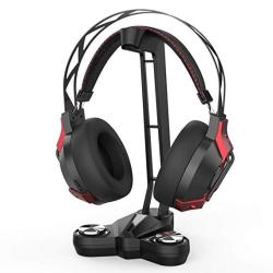 Dodocool Gaming Headphones Stand Headset Stand With EQ7.1 Surround Sound Headset Holder LED Lights 2 USB Ports 3.5MM Audio Jacks