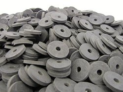 """PRIMAL23 Industrial 100 Heavy Duty Abrasion Resistant Rubber Washers 1"""" Od X 1 4"""" Id X 1 8"""" Inch Thickness SBR70 Series - 70 Duro"""