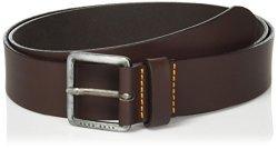 Boss Orange Men's Jeeko Italian Leather Belt Dark Brown Us 32