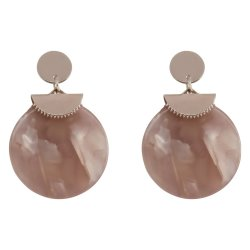 MISS CHIC - Gold And Blush Pink Drop Earring