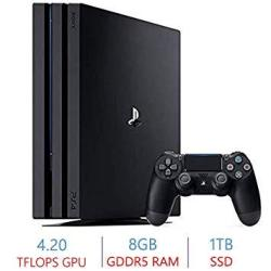 Sony Playstation 4 PS4 Pro 1TB SSD Console 4K-TV Gaming High Dynamic Range Amd Eight-core X86-64 Jaguar Processor Amd Radeon 4.2