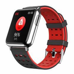 Ruixfwa Smart Bracelet Ecg Ppg Watch Health Heart Rate Monitoring Temperature Sports Waterproof Pedometer B