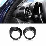 ABS Yiwang Car Side Air Conditioning Vent Outlet Cover Trim 2PCS For Alfa Romeo Giulia 2016-2018 Auto Accessories Carbon Fiber