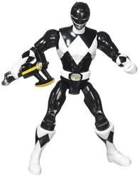 "Bandai Original Mighty Morphin Power Rangers Zach Black Ranger 8"" Action Figure 1993"