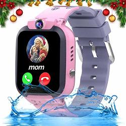"""Ifunplus Kids Waterproof Smartwatch Phone Girls Boys With Gps Tracker 1.44"""" Touch Screen Two Way Call Sos Camera Puzzle Game Love Reward Sms Notification"""