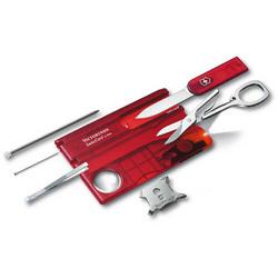 Victorinox Swiss Army Translucent Red Swisscard Lite Pocket Knife Set