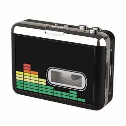 USB Cassette Player Tape To MP3 Converter Portable Walkman Audio Music Player CASSETTE-TO-MP3 Converter With Earphones No PC Req