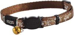 Rogz - Silkycat 11MM Breakaway Collar - Bronze Filigree - Bronze