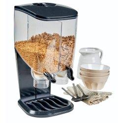 Mainstays - Double Cereal Dispenser Dark Grey