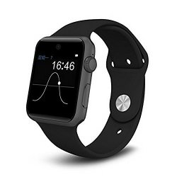 ETTG SW25 Bluetooth Smart Watch Support Sim Card Smartphone Fitness Tracker For Ios Android - Black