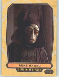 2012 Star Wars Galactic Files 9 Rune Haako Non-sport Collectible Trading Cards