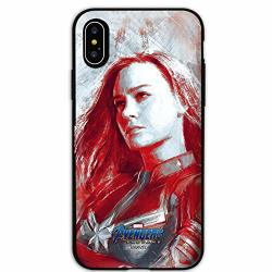 Endgame Vintage card Holder mirror door Bumper Case With Avengers Character For Samsung Galaxy A5 2017 Captain Marvel