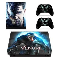 Vanknight Xbox One X Console Remote Controllers Skin Set Marvel Vinyl Skin Decals Sticker Cover For Xbox One X XB1 X Console