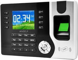 "Galapara 2.4"" Tft Lcd Display Biometric Fingerprint Attendance Machine Id Card Reader Tcp ip Function USB DC12V 1A Time Clock Recorder Employee Checki"