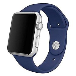 42MM 44MM Silicone Strap For Apple Watch - Navy Blue