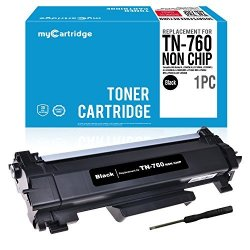 MyCartridge TN760 No Chip Compatible Toner Cartridge Replacement For BrOther TN760 TN730 For Use In BrOther HL-L2350DW HL-L2395DW DCP-L2550DW MFC-L2710DW Series 1 Black