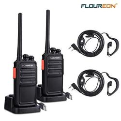 5c2058e2ae3 Rechargeable Long Range Walkie Talkies Uhf 400-470MHZ 16 Channel 2 Way  Radios With Earpiece 2 Pack