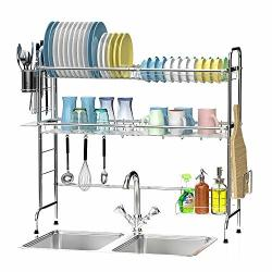 The Over Sink Dish Drying Rack Ace Teah 2 Tier Dish Rack Stainless