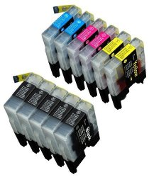Blake Printing Supply 11 Pack Compatible With Brother LC-71 LC-75 5 Black 2 Cyan 2 Magenta 2 Yellow Compatible With Brother MFC-J280W MFC-J425W MFC-J430W MFC-J435W MFC-J5910DW MFC-J625DW