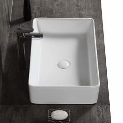AWESON 23 Inch X 15 Inch Rectangular Vessel Sink Ceramic Bathroom Sink Rectangular Above Counter Porcelain Vessel Sink 23-RECTANGULAR