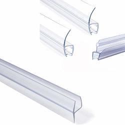 Shower Glass Door Seal Frameless Shower Door Bottom Seal Shower Door Sweep Rubber Plastic Shower Screen Seal Strip For 6MM 8MM 10MM 12MM Thickness Curved flat Glass Bath
