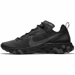 Nike Mens React Element 55 Running Shoes 10.5 Black dark Grey