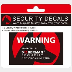 Doberman Security Se-0409 Security Stickers Red