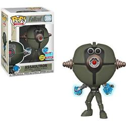 USAB Funko Assaultron Glow-in-dark 2018 Fall Con Exclusive : Fallout X Pop Games Vinyl Figure & 1 Pet Plastic Graphical Protector Bundle 386 33996