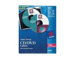 6692 Cd dvd Labels For Color Lasers 30 Disc Labels & 60 Spine Labels