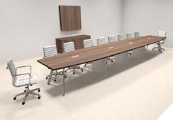 Modern Boat Shaped 20' Feet Conference Table OF-CON-CV45