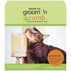 Sentry Groom N Comb Self-grooming Aid For Cats With Catnip