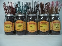 Wildberry Incense Sticks Best Seller Set 1: 20 Sticks Each Of 5 Scents Total 100 Sticks