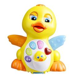 Coolecool Cute Duck Baby Musical Toys 18 Months Light Up Educational Electronic Activity Sound Music Toys For Toddlers Infant Preschools Kids Yellow