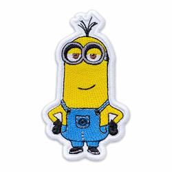 """Embrosoft Canada Corp. Despicable Me Minion Proud Kevin Embroidered Patch Iron On 2.4"""" 4.2"""""""
