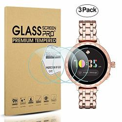Diruite 3-PACK For Kate Spade Scallop 2 Smartwatch Screen Protector Tempered Glass 2.5D 9H Hardness Anti-scratch Bubble-free - P
