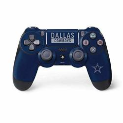 Skinit Dallas Cowboys Blue Performance Series PS4 Controller Skin - Officially Licensed Nfl Gaming Decal - Ultra Thin Lightweight Vinyl Decal Protection
