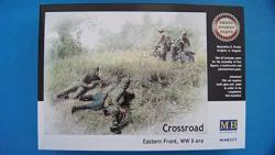 USA Master Box Wwii Crossroads Eastern Front 5 Figures And Motorcycle With Sidecar Figure Model Building Kits 1:35 Scale