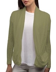 LUCY Scottevest Cardigan - 4 Pockets - Travel Clothing Pickpocket Proof Snd L