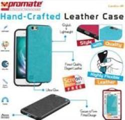 Promate LANKO-I6 Leather Flexible Snap-on Case - Blue Retail Box 1 Year Warranty