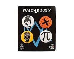 WATCH Dogs 2 Pins Buttons Collection Set 1 Official Ubisoft Collection By Ubi Workshop