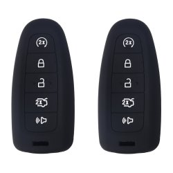 WERFDSR 2PCS Xuhang Sillicone Key Skin Cover Key Remote Case Protector Shell For Ford Edge Escape Explorer Focus Lincoln Mks Mkt Mkx Mkz Keyless Entry