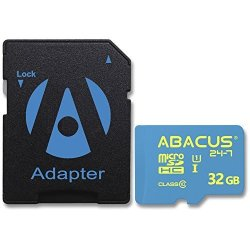 ABACUS24-7 32GB Memory Card Microsd With Sd Adapter For Polaroid Cube+ I830 ID642 ID820 ID879 ID940 HD Camcorder ID975 IE090 IE090 IE826 IS085 IS2132