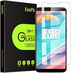 3-PACK Kosph For Oneplus 5T 1+5T Tempered Glass Screen Protector 9H 2.5D Arc Edge Glass Film With Oleophobic Coating Anti Scratch impact Absorption high Clarity Partial