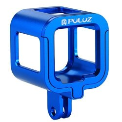 Puluz Housing Case Shell Cnc Aluminum Alloy Protective Cage With Insurance Frame For Gopro HERO5 Session HERO4 Session Blue