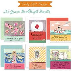 USAD Curly Girl Design - Its Gonna Be Alright 6 Card Bundle - Art By Leigh Standley