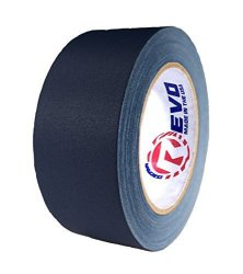 "Impact Tapes Revo Premium Professional Gaffers Tape 2"" X 30 Yards Made In Usa Blue Gaffers Non Reflective Tape- Camera Tape- Better Than Duct Tape Black"