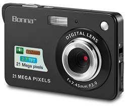 "Bonna 21 Mega Pixels 2.7"" Display HD Digital Camera Digitals - Digital Video Camera - Students Cameras - Kids Camera -for Adult"