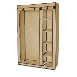Mainstays - 4 Shelf Hanging Wardrobe Beige