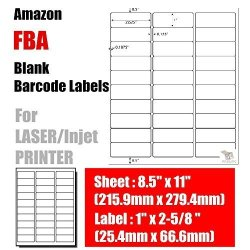 "BESTeck 30UP 30 Labels Per Sheet Easy To Peel Labels 2.625""X1"" Perfect For Fba Sku Bard Code Address Labels White Mailing Labels For Laser"