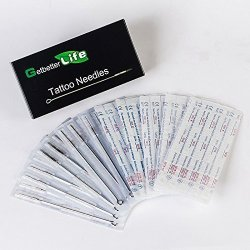 Getbetterlife 200 Pieces Tattoo Needles- 3RL 5RL 7RL 9RL 5RS 7RS 9RS 5M1 7M1 9M1